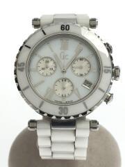 GC/クォーツ腕時計/アナログ/ステンレス/WHT/WHT