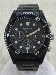 クォーツ腕時計/アナログ/--/BLK/グランドール