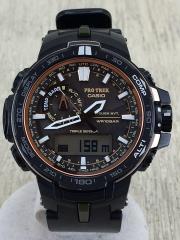 ソーラー腕時計/デジアナ/--/BLK/BLK/カシオ/プロトレック/トリプルセンサー/PRO TREK