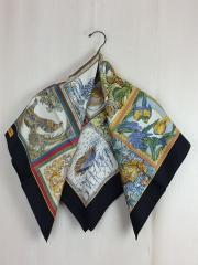 スカーフ/シルク/BLK/アニマル/レディース
