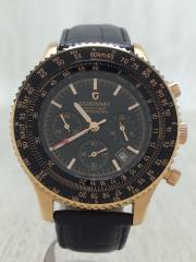 クォーツ腕時計/アナログ/--/BLK/BLK