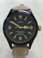 ウォーターベリーコレクション /クォーツ腕時計/アナログ/レザー/BLK/BEG