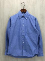 ボタンダウンシャツ/スタンダードフィット/14.5/コットン/BLU/無地