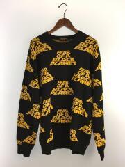 18SS/Public Enemy Sweater/セーター(厚手)/L/コットン/BLK/総柄