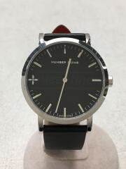 クォーツ腕時計/アナログ/レザー/BLK/BLK/NNR40SBK-BK