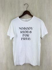 NOBODY RIDES FOR FREE/プリントTシャツ/M/コットン/WHT