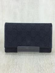 3つ折り財布/キャンバス/BLK