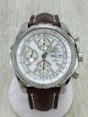 ベントレーGTクロノグラフ/自動巻腕時計/アナログ/レザー/WHT/A13362