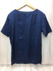 Tシャツ/48/コットン/BLU/無地