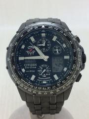 U600-T011560/クォーツ腕時計/アナログ/ステンレス/BLK