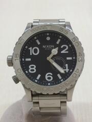 クォーツ腕時計/アナログ/チタン/BLK/SLV