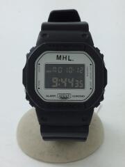 ×MHL./DW-5600VT/クォーツ腕時計/デジタル/ラバー/WHT/BLK