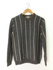 セーター(厚手)/3213-130-0367/L/ウール/GRY/グレー/ストライプ