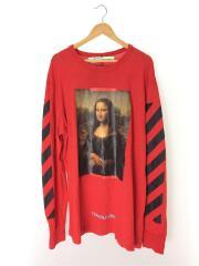 長袖Tシャツ/XXL/コットン/RED/18SS/DIAG MONALISA L/S TEE/モナリザ