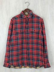 ラルフローレンラグビー/ネルシャツ/M/コットン/RED/チェック