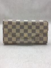 ルイヴィトン/ポルトフォイユ・サラ_ダミエアズール/PVC/WHT/N63208
