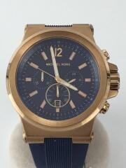 DYLAN/クォーツ腕時計/アナログ/ラバー/BLU/BLU/MK-8295