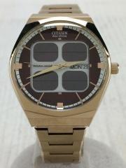 ソーラー腕時計/アナログ/ステンレス/BRD/MOVT-B800-S080113-KA/中古/古着