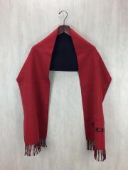 マフラー/ウール/RED/無地