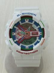 美品/クォーツ腕時計/G-SHOCK/クレイジーカラーズ/デジアナ/ラバー/マルチカラー/WHT
