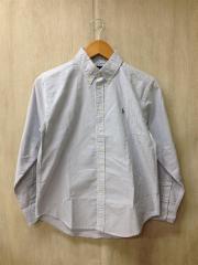 シャツ/--/コットン/BLU/ストライプ