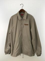 18SS/コーチジャケット/XL/ポリエステル/GRY/Gonz Logo Coaches Jacket