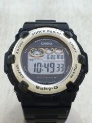 Baby-G/ソーラー腕時計/デジタル/PVC/BLK