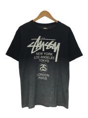 Tシャツ/M/コットン/BLK/ドット/ロゴT