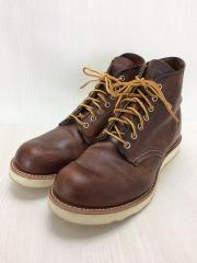 ブーツ/27cm/BRW/レザー