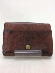 2つ折り財布/レザー/BRW/無地/ユニセックス