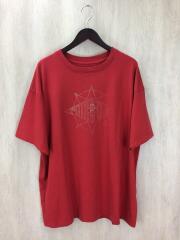 Tシャツ/L/コットン/RED/タグ付き
