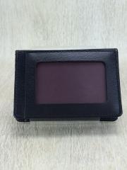 カードケース/レザー/BLK/メンズ