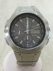ソーラー腕時計/デジアナ/SLV
