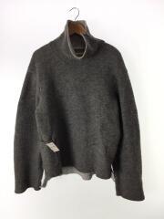 セーター(厚手)/2/ウール/GRY/16AW/ダブルフェイスタートルネックニット/オーバーサイズ/メンズ