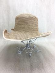 HIAND/レトロLADYリボン付き帽子/57.5cm/ハット/--/BEG
