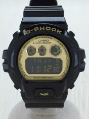 腕時計/アナログ/GLD/BLK