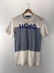 Tシャツ/S/コットン/WHT/総柄