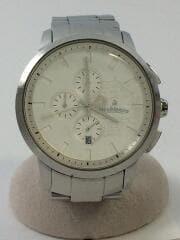 クォーツ腕時計/アナログ/ホワイト/シルバー/オロビアンコ