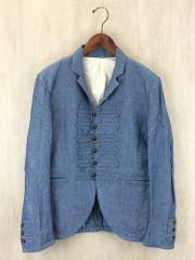 テーラードジャケット/ナポレオンジャケット/1/リネン/ブルー/A2J281