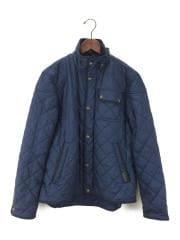 キルティングジャケット/S/ポリエステル/NVY
