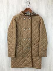 キルティングジャケット/32/ポリエステル/キャメル