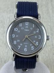 タイメックス/クォーツ腕時計/アナログ/ナイロン/GRY/NVY