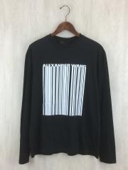 17AW/ロゴプリントロングスリーブTシャツ/XS/コットン/BLK