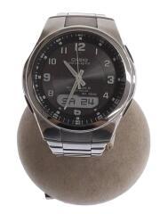 ソーラー腕時計・WAVECEPTOR/デジアナ/SLV