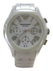 AR-1404/クォーツ腕時計/アナログ/セラミック/WHT/WHT
