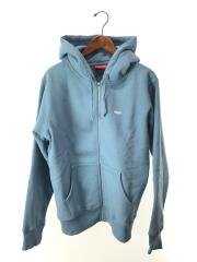 Reflective Small Box Zip Up Sweatshirt/ジップパーカー/M/コットン/BLU