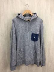 パーカー/XL/コットン/GRY/無地