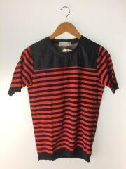 63-02-42-02012/Tシャツ/S/コットン/レッド/赤/ネイビー/紺/ボーダー