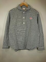 20SS/丸衿シャツ/JD3564/34/コットン/WHT/チェック