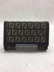 2つ折り財布/キャンバス/BRW/総柄